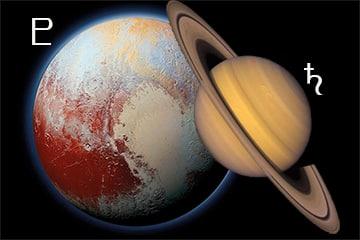 Saturnus conjunct Pluto 2020